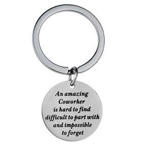 Удивительный Коллега Трудно найти из нержавеющей стали подвеска брелок Брелок Женщины Мужчины КОЛЛЕГОЙ Friend сумка автомобилей Key Chain подарок