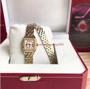 2 montres style pour dames WGPN0012 22X30 MM en or jaune 18K CAR BALLON Ballon Bleu Diamants Montre Femme de Mode Quartz Quartz