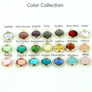 Free Shipping 50PCS Mixed Crystal Faceted  10mm Round Colorful Glass Crystal Pendant Connector Jewelry Findings