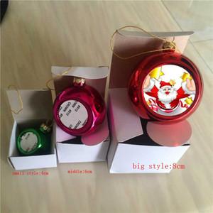 Adornos navideños de sublimación bola personalizados consumibles en blanco suministros transferencia de corazón impresión DIY material nuevo estilo de Navidad