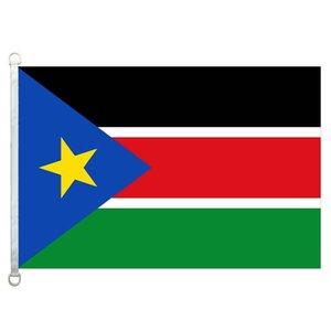 Südsudan-Flag Banner 3X5FT-90x150cm 100% Polyester, 110g / m²-Kettenwirkware im Freien