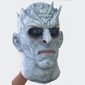 Film Game of Thrones Nacht König Maske Halloween Realistisch Scary Cosplay Latex Party Maske Erwachsene Zombie Requisiten