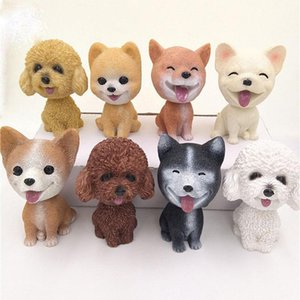 Nodding Dog Car Shake Head Dog Dolls Dashboard Car Decoration Auto Shaking Head Toy cartoon Automobile Decor Party Favor GGA1083