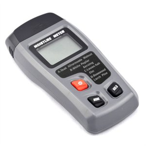 Dois Pinos Digital Medidor de Umidade De Madeira 0-99.9% Madeira Testador de Umidade de Madeira Detector de Umidade com Grande Display LCD