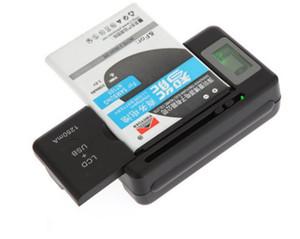 지능형 표시기 삼성 전자 갤럭시 S4 S5 S6 용 USB 포트가있는 디지털 LCD 범용 휴대 전화 홈 도크 배터리 충전기 LG HTC Mobile LLF