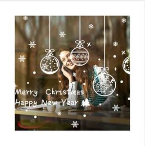 GZTZMY 2019 Neujahr Frohe Weihnachten Dekorationen für Zuhause Glas Schaufenster Fenster Weihnachtsdekoration Aufkleber Navidad Natal