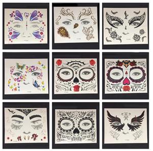 Yüz Göz dövme Geçici Dövme Etiket Su Geçirmez Kendinden Yapışkanlı Macun Cadılar Bayramı Kostüm Cosplay Parti Makyaj Vücut Sanatı