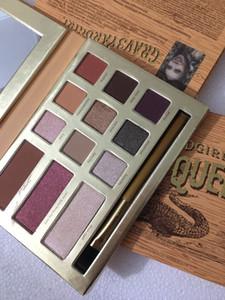 YARDGIRL SWAMP QUEEN 12 цветов Тени для макияжа Шиммер Matte Eyeshadow Earth Color Eyeshadow Palette Косметический макияж бренд макияж