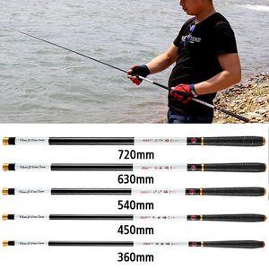 Canne à pêche 4.5 / 5.4 / 6.3 / 7.2M Canne télescopique portable Ultra-léger pôle en acier Carp Canne à main télescopique pôle de pêche