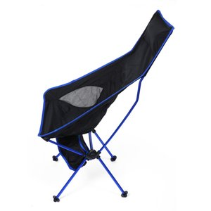Lengthened Foldable Aluminium Alloy 7050 Outdoor Chair with EPE Pillow Foot Strap only 1.2kg with up to 150kg holding capacity