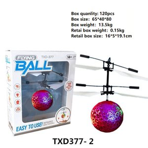 10 types RC Drone Flying Copter Ball Avion Hélicoptère Led Clignotant Light Up Jouets Induction Électrique Jouet capteur Enfants Enfants De Noël B