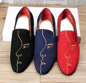 2018 neue mode männer schuhe chaussure homme marque de luxe sapatos masculino luxus herren müßiggänger nx2a10
