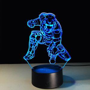Iron Man LED Night Light per ragazze dei ragazzi della Camera l'illuminazione della decorazione intelligente magica luce di notte Marvel Heroes