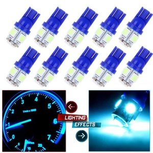 10Pcs Ice Blue T10 5SMD 5050 Car Led Wedge Light Plate License 194 2825 501 Bul