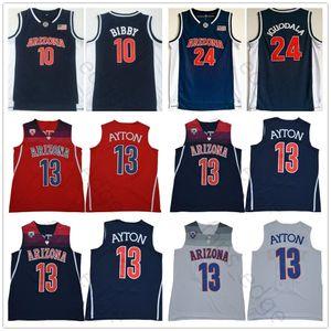 NCAA Arizona Wildcats College # 13 DeAndre Ayton Forması Kırmızı Beyaz Mavi 10 Mike Bibby 24 Andre Iguodala Dikişli Üniversite Basketbol Formaları
