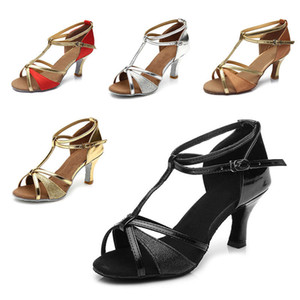 Adult Dance Shoes Latin Tango Dancing Shoes Women For Girl Ballroom indoor Shoes Discount Brand Heel Hight 7cm 809