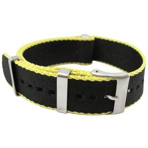 Qualité Hight Noir Nato Nylon imperméable Hommes Bracelet 20 mm 22mm Casual Bond 007 Bracelet 30cm Army Montre Sport Band