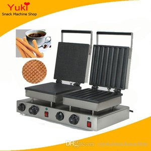 Spanish Churros Machine Commercial Waffle Stick Maker Wafle en forma cuadrada que hace la máquina 110V 220V Cafe Hotel