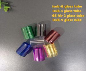 2018 cigarro Eletrônico clear atomizador tanque tubo De Vidro tanque de vidro tubo isub-g GS Ar 2 isub-s isub-v tubo de vidro