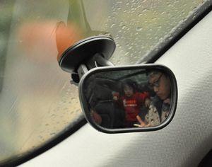 Miroir de siège arrière de voiture pour bébé, vue arrière faisant face au siège arrière Miroir de sécurité arrière pour enfants avec rétroviseur avant réglable pour bébé