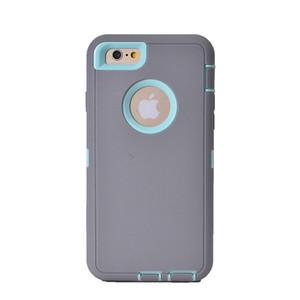 2018 Envío gratis para el caso del iphone 7 a prueba de golpes caja del teléfono silicone + PC hydrid 2in1 para el caso del robot de Iphone