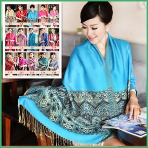 Quente !! Nova Alta Qualidade Chinês Senhora Cachecol De Algodão Bohemian Ladies Longo Quente Cachecol Grande Xaile 24 Cores Opcional