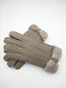 Livraison gratuite - Gants en laine pour femmes en cuir chaud et anti-gel, de haute qualité, anti-gel et coupe-vent, épaissis