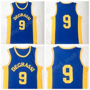 Degrassi Community 9 Jimmy Brooks Maillots Hommes High School Team Couleur Bleu Piqué Brooks Moive Basketball Maillots Uniforme Livraison Gratuite