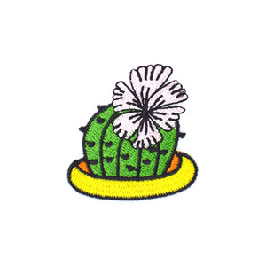 10PCS Diy Iron on Applique Cactus Flower Patch for Clothing Badge Jacket Embroidery Patches for Hot Melt Adhesive Clothing Accessories Patch