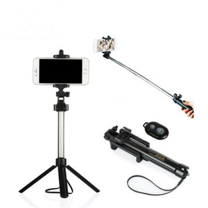 Landheld Tripod 2-in-1 تمديد Bluetooth Selfie Stick ل iPhone X 8 7 6 6S 6Plus Samsung Android الهاتف الذكي