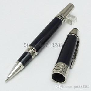 Artigos de papelaria de luxo monte JOHN F. KENNEDY 18 K NIB caneta tinteiro preto resina prata JFK clipe caneta material de escritório presente