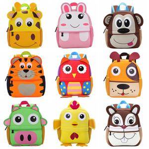 حار الأطفال 3d كارتون الاطفال حقيبة لطيف الحيوان تصميم طفل طفل الحقائب المدرسية الروضة الزرافة القرد
