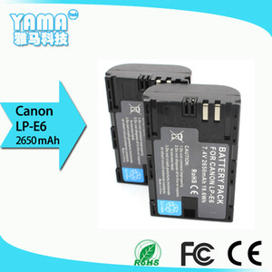New Decoding 2650mAh Digital Camera Battery for Canon Lp-E6 Lp-E6n Lpe6 Lpe6n Display Electricity Quantity