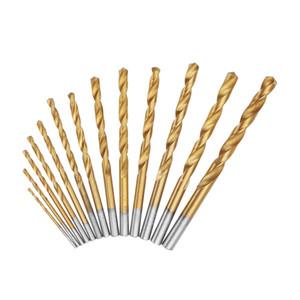 13pcs 1.5-6.5mm HSS Twist Drill Set Jeu de forets hélicoïdaux à tige droite en acier rapide - Argent