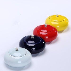 Nouveau caddie en céramique boîte de 165g scellé Céramique gardé éveillé Théière Chaguan Piggy Bank Sugar Bowl 4 couleurs