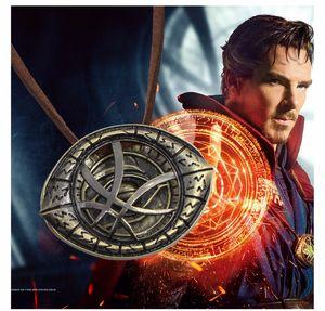 Fantasía Film Doctor Strange Collares Colgantes Vintage Dr.Strange Eye Colgante Leather Chain Gargantilla Necklace Collares