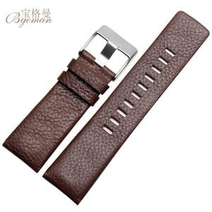 20/24 / 26/27 / 28 / sangle 30mmLeather alternatif DZ7313 DZ7322 DZ7257 broches montre, bracelet, homme de ceinture noire, sans frais de port