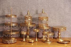 12 teile / los Gold Hochzeit Dessert Tray Cake Stand Cupcake Pan Party Supply Neue Kuchen Tabelle Kuchen Werkzeuge dekoration