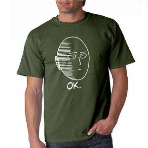 THE COOLMIND 100% algodón ANIME One Punch Man camiseta estampada para hombres Fashion cool confortable camiseta manga corta para hombres