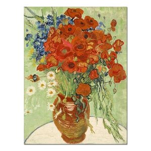 Van Gogh Flowers Free Shipping,Hand-painted & HD Print Still Life Art Oil painting On Canvas,Wall Art Home Deco High Quality l139