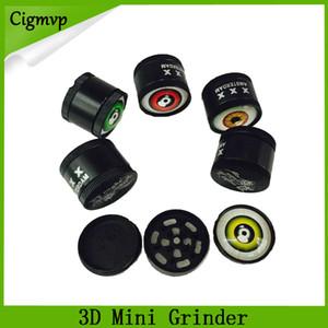 3D mini Muller Herb Grinder Trituradora de Humo de Aleación de Zinc Mini Trituradora de Tabaco de Metal 3 Capas 30mm Diamter Colores Surtidos YW849 DHL 0266222