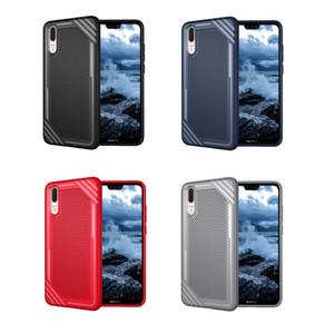 Yeni Tasarım Anti Kayma Yumuşak TPU Telefon Kılıfı Için HUAWEI P20 Lite p20 Pro Darbeye Dayanıklı Zırh kılıfları iphone X 8 Samsung S9