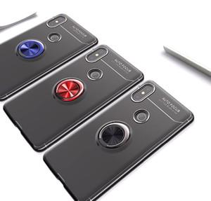 Роскошный противоударный корпус для Xiaomi Mi Mix 2 Case Мягкий силиконовый задняя крышка Mi Mix 2s Caso Fundas с кольцом держатель крышки