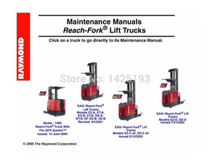Raymond Maintenance Manual Reach-Fork 리프트 트럭