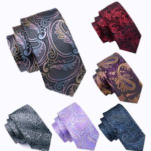 20 Paisley Silk Mens Krawatten Design Set Taschentuch und Manschettenknöpfe Jacquard Woven Großhandel Krawatte Die Bindung der Männer Set Hanky Manschettenknöpfe freies Verschiffen