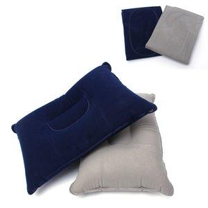 Vendita calda portatile cuscino gonfiabile pieghevole rettangolo poggiatesta per esterni campeggio pesca viaggi treno volo seggiolino auto cuscino d'aria cuscino