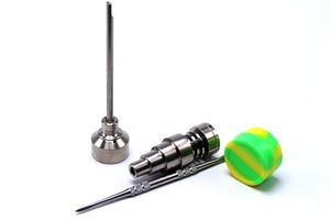 Bong Tool Set 10 14 18mm Domeless Gr2 Titanium Nail Carb Cap Dabber Slicone Jar Glass Bong Smoking Water Pipes