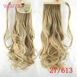 Encaracolado sintético peruca rabo de cavalo extensões de cabelo kinky curly 10 cores tranças de crochê extensões de cabelo rabo de cavalo grampo em extensões do cabelo