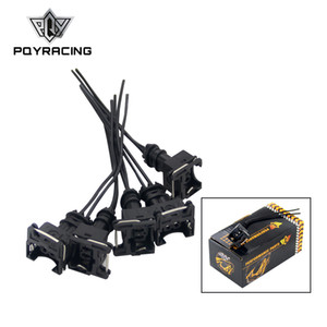 PQY - 5PCS  SET INJECTOR DYNAMICS EV1 Pigtail Clip Connector Fuel Injector Connectors For many cars EV1 Injector Plug FIC14