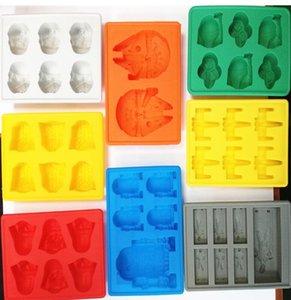 3D-Eiswürfel-Form-Hersteller Stab-Partei-Silikon-Schalen-Kasten Halloween-Kuchen-Süßigkeit-Form-Küche-Werkzeug Geschenke 8 Farben 15 * 12 * 2cm